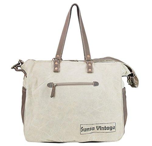 Sunsa Borse da Donna Vintage Borse a tracolla Borsette in Canvas / Telo olona con pelle 51897