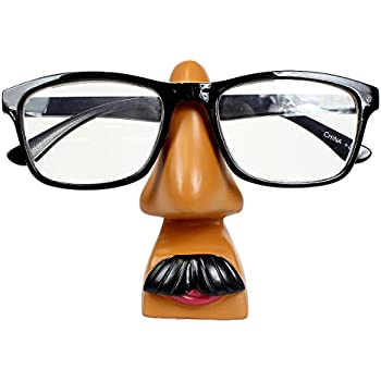 """""""Men are from Mars"""" Funny Eyeglass Holder Nose, Brown"""