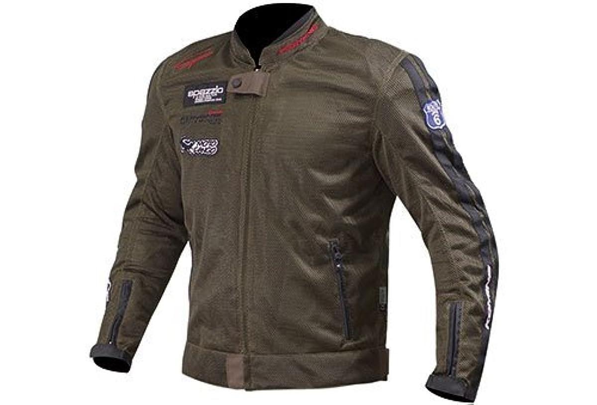 [해외] 코미네 KOMINE 오토바이 라이딩 메쉬 재킷 아우터 레전드 프로텍터 통기성 올리브 XL 07-014 JK-014