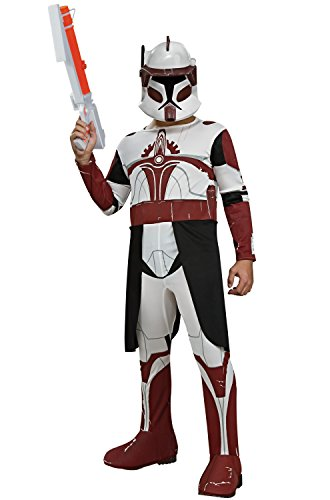 Rubie's Star Wars Clone Wars Child's Clone Trooper Commander Fox Costume and Mask, (Princess Leia Mask)