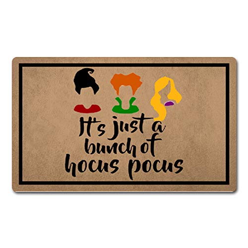 Halloween Doormat Outdoor Decor (FXGZHAO Welcome Mat with Rubber Back 18