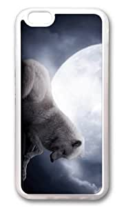 iPhone 6 Plus Case,VUTTOO iPhone 6 Plus Cover With Photo: White Wolf Full Moon For Apple iPhone 6 Plus 5.5Inch - TPU Transparent