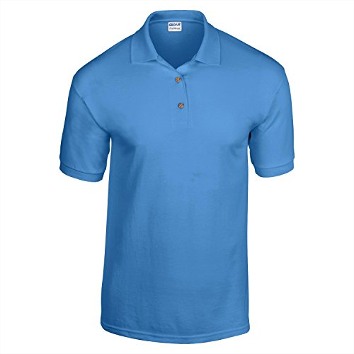 Gildan Dry Blend-Jersey Knit Polo Dunkle Heather 2XL
