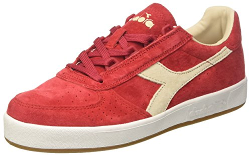 Sneaker Uomo Diadora Rosso Pompeianobianco Nub Rosso Elite B qttPO