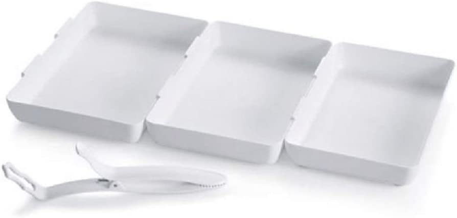 Pampered Chef Coating Trays (Set of 3) Plus Tool for Dipping