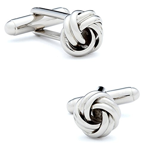 Ox and Bull Mens Plated Silver-Tone Knot Cufflinks