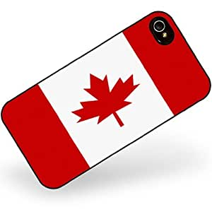 Rubber Case for iphone 4 4s Canada Flag - Neonblond