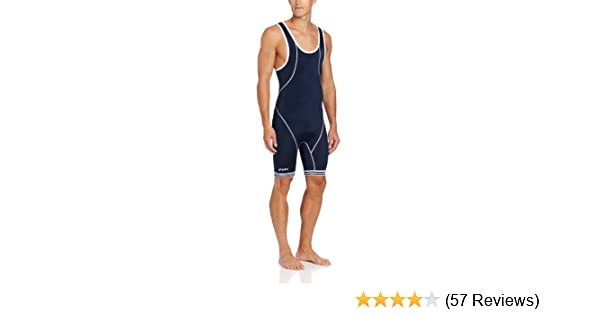 e3fb71e32b Amazon.com : ASICS Men's Snap Down Wrestling Singlet (Navy/White), XX-Small  : Clothing