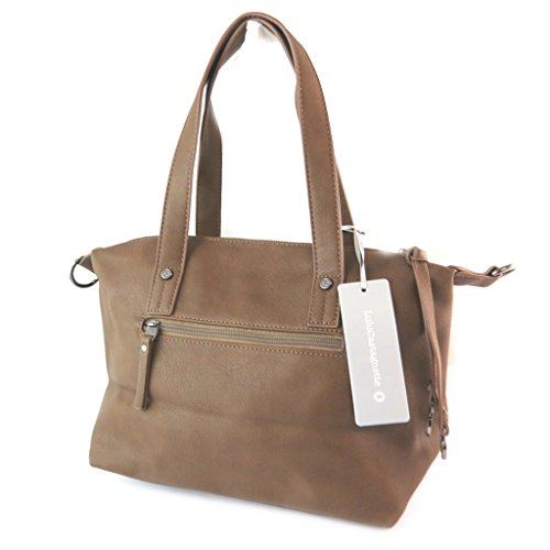 Bag designer 'Lulu Castagnette'marrone tabacco - 40x23x15 cm.