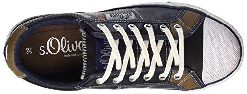 s.Oliver 53103, Zapatillas para Niños Azul (NAVY 805)
