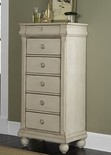 Liberty Furniture Rustic Traditions II Bedroom Lingerie Chest, Rustic White Finish ()
