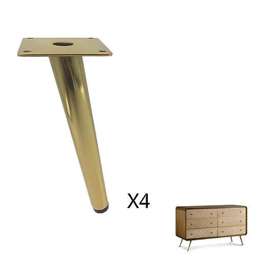 Juego de 4 patas de muebles, pie de mesa de metal, para sofá ...