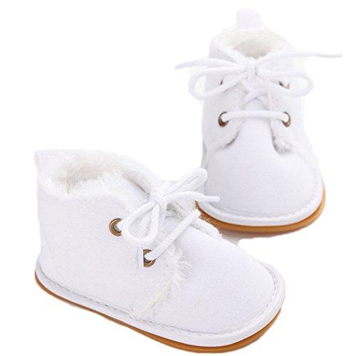 VWH Baby weiche Sohle Schnee Aufladungen Krippe Schuhe Kleinkind Stiefel, 0-18 Monate Weiß
