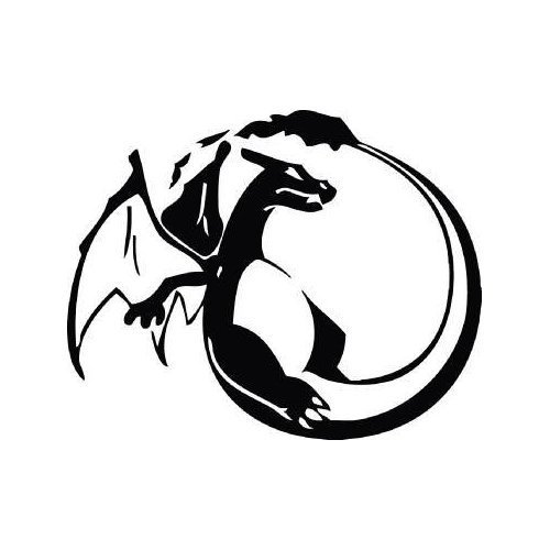 White Color Pokemon Charizard Decal Helmet Home Decor Art Au