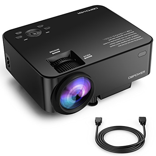 Video Pixel Aspect Ratio (Upgraded DBPOWER T20 LCD Mini Projector with 10% Brighter Projection, Multimedia Home Theater Video Projector with HDMI Cable, Supports 1080p, HDMI, USB, SD Card, VGA/AV/TV, Laptops, Games, Smartphone)