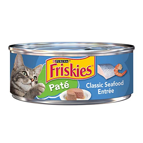 (Purina Friskies Pate Wet Cat Food; Classic Seafood Entree - 5.5 oz. Can, pack of 24)