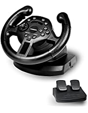 GAMEMON Double Vibration Mini Racing Wheel Compatible with Playstation3 PS3/PC D-Input and X-Input. Please note it is a MINI wheel desinged for kids or starters.