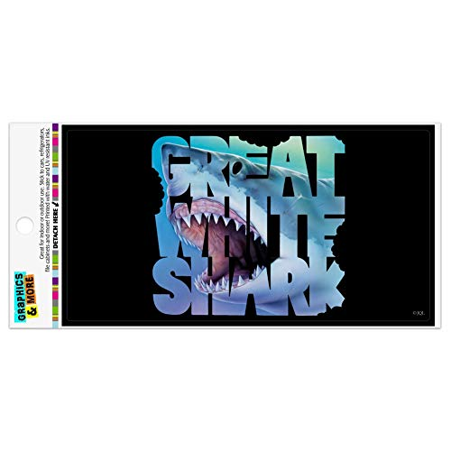 - Graphics and More Great White Shark Bites Scuba Diving Automotive Car Refrigerator Locker Vinyl Magnet