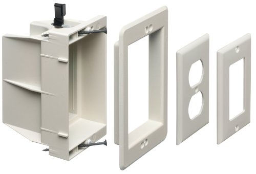 - Arlington DVFR1W-1 Recessed Electrical/Outlet Mounting Box, Single Gang