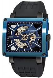 Stuhrling Original Men's 257R.33X66 Wild Axis Automatic Skeleton Blue IP Case Watch