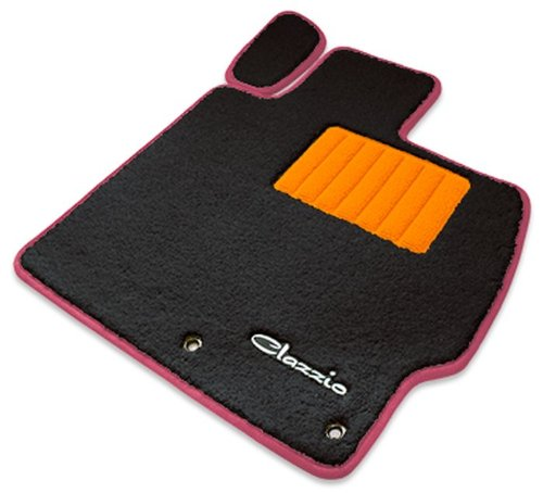 クラッツィオ ( Clazzio ) 【 フロアマット 】 マツダ CX-5 【1列目+2列目セット】 (ブラック×オレンジ×ピンク) EZ-0725-Y901-KOP B00RFRLMZS ピンク ピンク
