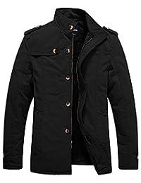 Wantdo Men's Stand Collar Fleece Jacket