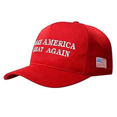 Baseball Caps Mokao Embroidery Janpanese Make America Great Again Cotton Hats Snapback Hip Hop Street Hat Sun Cap (Red)