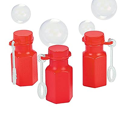 RED Hexagon Bubble Bottles - Toys - 48 Pieces: Toys & Games