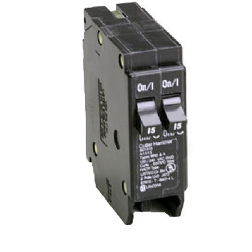 Eaton Corporation Br2020 Single Pole Tandem Circuit Breaker, 120V, 2-20-Amp