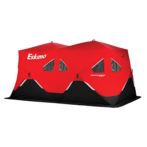Eskimo FF9416 FatFish Pop-up Portable Ice Shelter, 7-9 Pe...