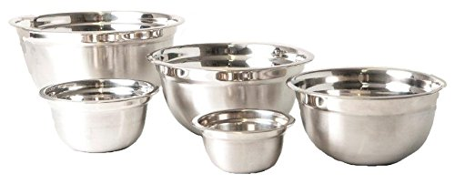 5pc German Style Stainless Steel Mixing Bowls Primma Cuisine