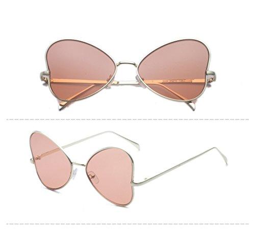 de personalidad de de Lady Vintage Hiker amp; sol amp;Gafas Sunglasses Color Sunglasses 3 la Gafas redondas 4 protecciónn 5W0BzqU