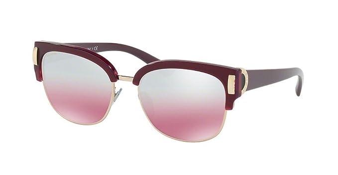 Bulgari BVLGARI Damen Sonnenbrille 0BV8189 54267E, Gold (Top Marc On Violet/Pink Gold/Pinkmirrorsilvergradient), 55
