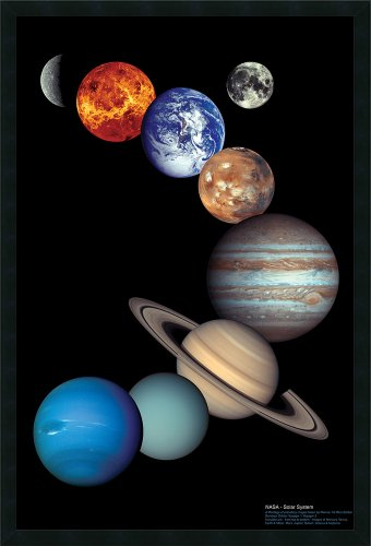 Framed Art Print, 'NASA Solar System': Outer Size 25 x 37'' by Amanti Art