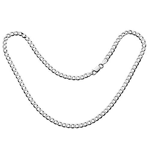 afd600f457d6 Delicado Collar de hombre de plata sin colgante de la marca Sterll ...