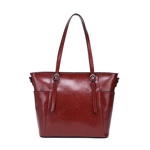 - CHERRY CHICK Women's Cowhide Skin Crossbody Bag Genuine Leather Shoulder Handbag with Adjustable Top Handle (Ruby-8079)