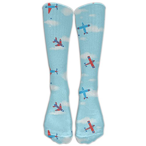Images Of Male Pirate Costumes (plane Stay Soft Long Distance Running Fashion Spandex Compression Long Tube Crew For Men & Women Cartoon Knee-high Socks Socks)