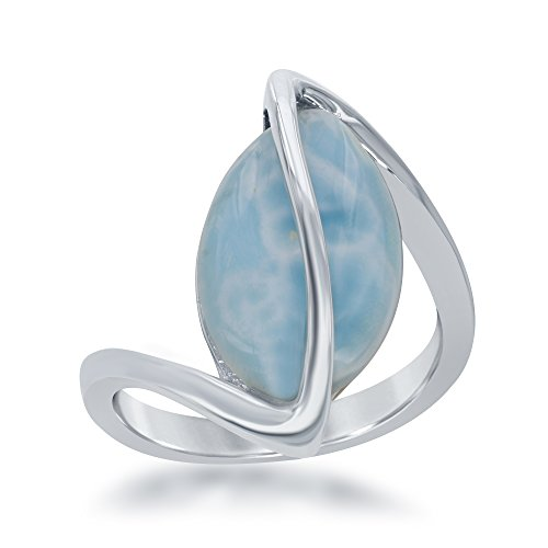 Sterling Silver Oval Larimar