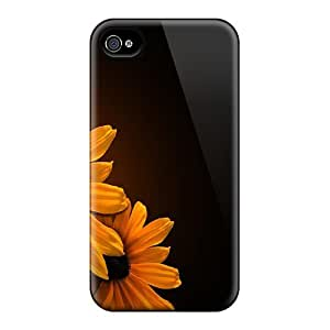 LJF phone case Durable Protector Case Cover With Black Eyed Susans Hot Design For Iphone 4/4s
