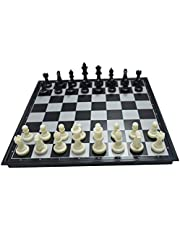 ZCQS Magnetic Chess Pieces Bottom Folding Chess Board Hips Plastic Portable & Durable
