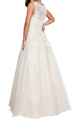 Prinzess Festlichkleider mia Braut La Partykleider Spitze Abschlussballkleider Silber Perlen Rosa Abendkleider Promkleider Damen FUYCqTw