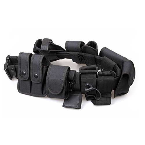 Officer Utility Belt For Police Costumes (Security Guard Modular Enforcement Equipment Duty Belt Tactical Police Nylon 600)