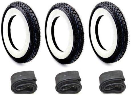 3x Wei/ßwand Reifen Schlauch Set Kenda 3.50-10 Zoll f/ür Vespa PX 125 150 200