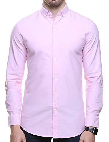 Piero Lusso Men's Long Sleeve Regular Fit Casual Sold Colour Dress Shirt 2