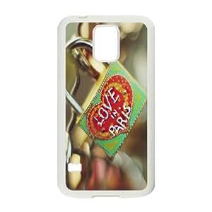 Clzpg Personalized SamSung Galaxy S5 I9600 Case - Love Lock cover case