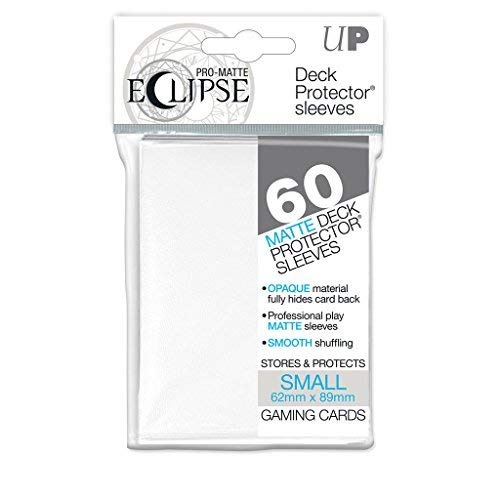 - Ultra Pro Pro-Matte Eclipse Small/Yu-Gi-Oh Size White Deck Protector Sleeves Box [12 packs]