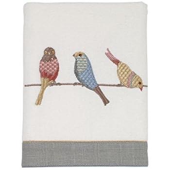 Ivory Avanti Linens 35582IVR Avanti Sea Birds Hand Towel