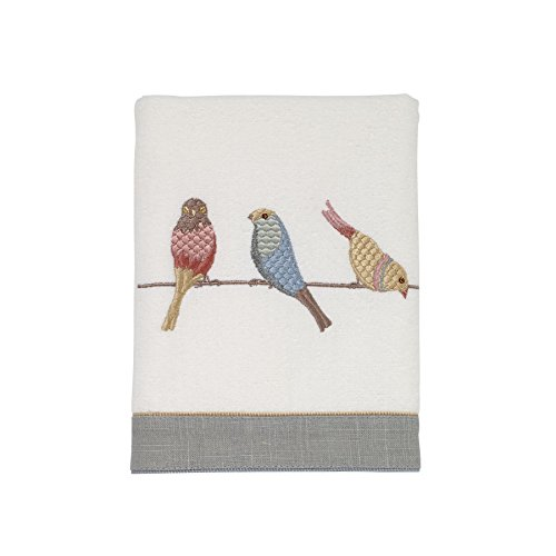Avanti Linens Bird on A Wire Hand Towel, White