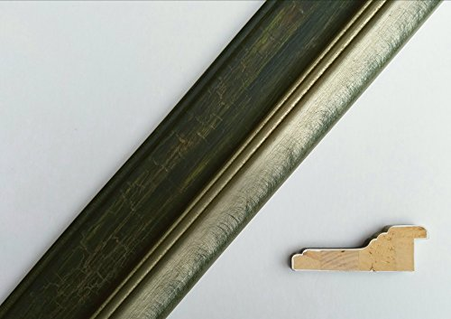 20′ 4″ Italian Hand Rubbed Green Brushed Silver Distressed Rustic Wood Picture Frame Moulding Review