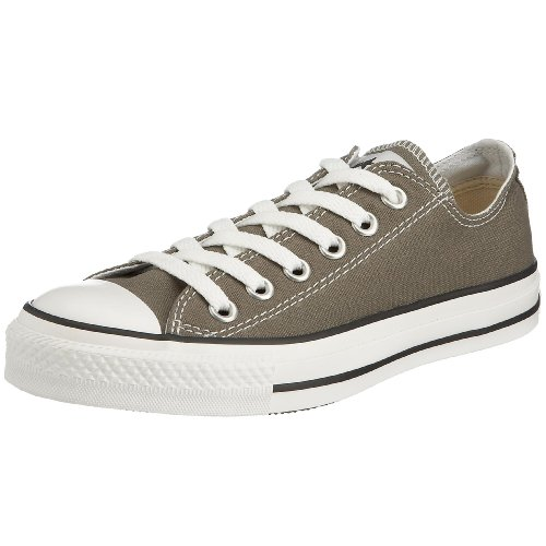 Converse Kid's Chuck Taylor All Star Low Top Shoe, charcoal, 2 M US Little Kid